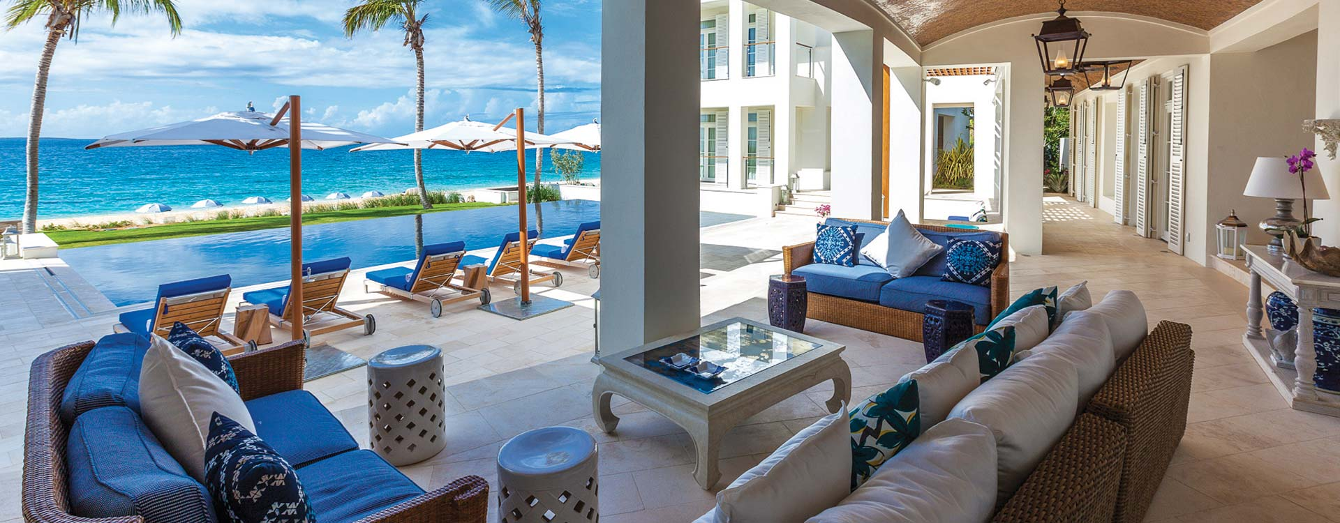 Indoor/Outdoor living at Cerulean Villa, Anguilla